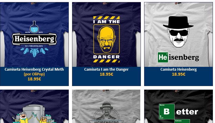 Mensajes en inglés en las camisetas